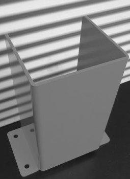 U-Profil X-Line H = 400mm Edelstahl 1.4301
