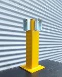 Geländer X-Line Ständer 500 mm   gelb  RAL 1003